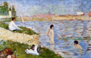 Georges Seurat - Bathing at Asnieres 2
