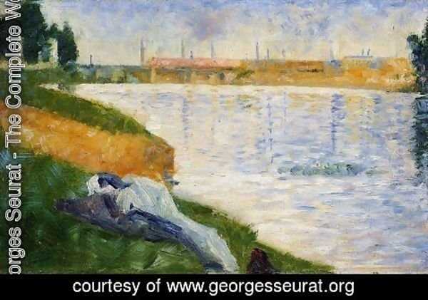 Georges Seurat - Bathing at Asnieres 3