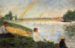 Georges Seurat - Bathing at Asnieres 4