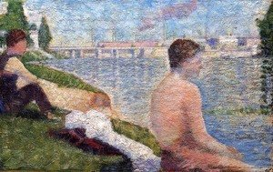Georges Seurat - Bathing at Asnieres 5