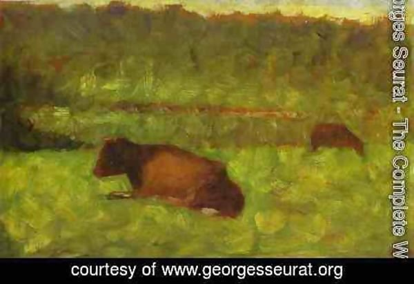 Georges Seurat - Cows in a Field