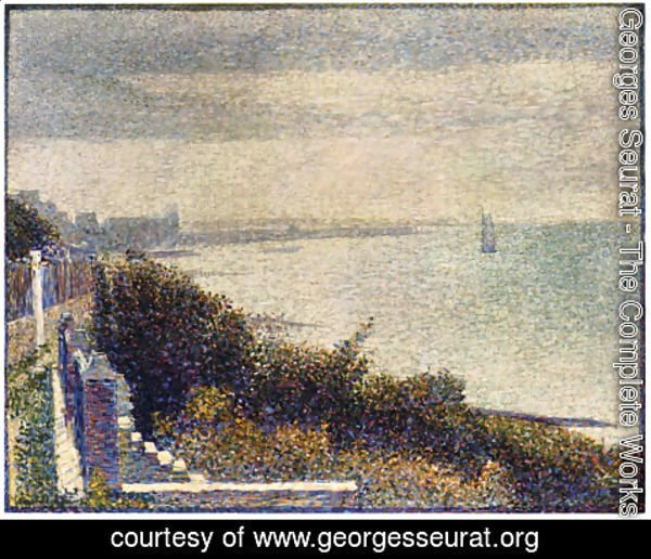 Georges Seurat - Grandcamp, Evening