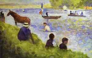 Georges Seurat - Horse and Boat