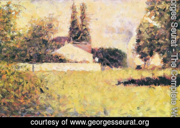 Georges Seurat - House between the trees