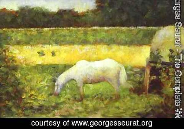 Georges Seurat - Landscape with a Horse.