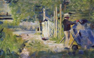 Georges Seurat - Man Cleaning His Boat