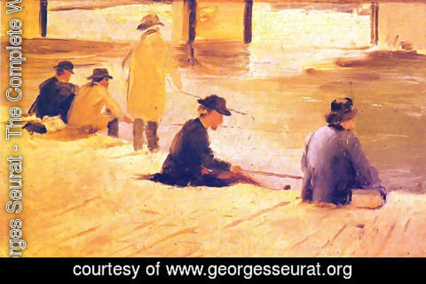 Georges Seurat - Men fishing in the wharf