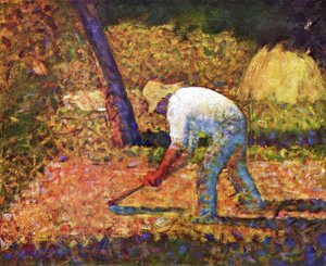 Georges Seurat - Peasant with a Hoe