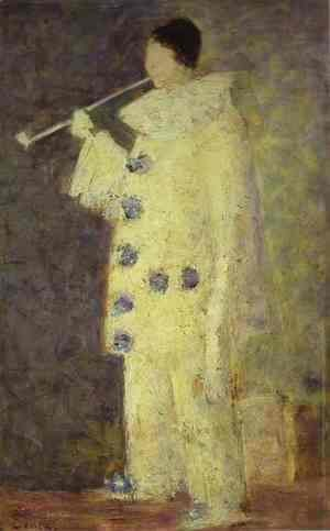 Georges Seurat - Pierrot with a White Pipe