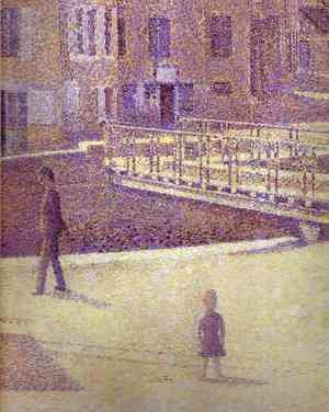 Georges Seurat - Port-en-Bessin1 (detail)