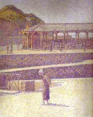 Georges Seurat - Port-en-Bessin2 (detail)