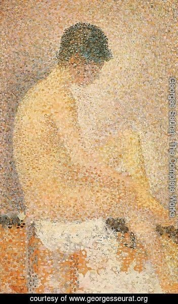 Georges Seurat - Side seated model