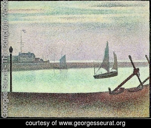 Georges Seurat - The Channel at Gravelines, Evening