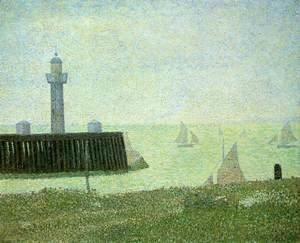 Georges Seurat - The End of a Jetty, Honfleur