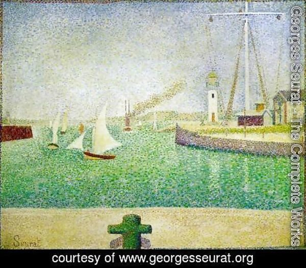 Georges Seurat - The Harbour Entrance, Honfleur