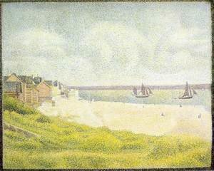 Georges Seurat - View of Crotoy, the Valley