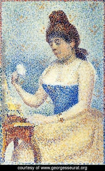 Georges Seurat - Young Woman Powdering Herself (Study)