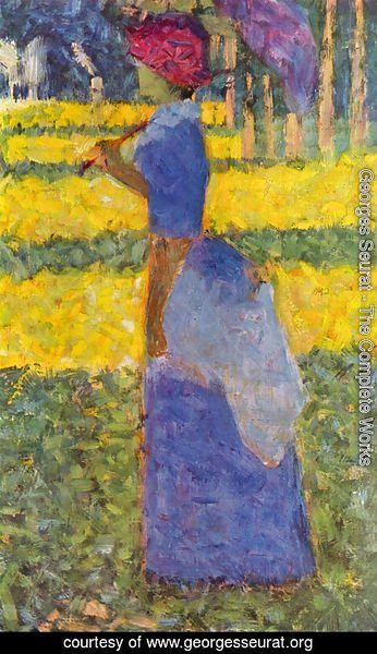 Georges Seurat - woman with umbrella