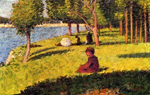Georges Seurat - Figures of assises