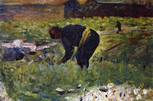 Georges Seurat - Peasant at work