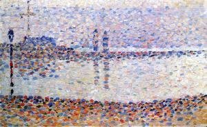 Georges Seurat - Study for 'The Channel at Gravelines' 1