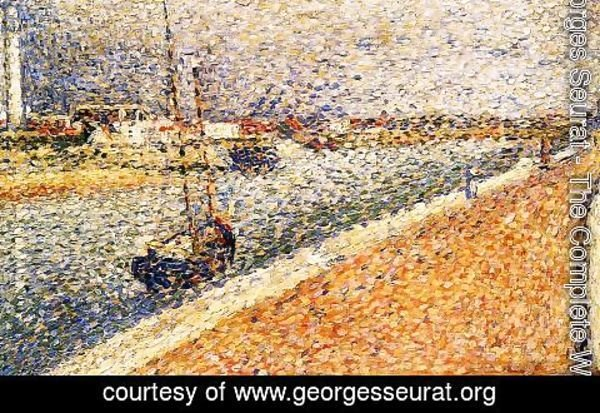 Georges Seurat - Study for 'The Channel at Gravelines' 2
