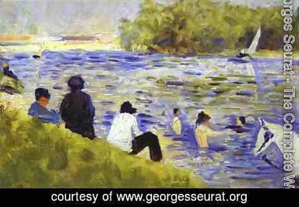 Georges Seurat - Bathers (Study For Bathers At Asnieres) 1883-84
