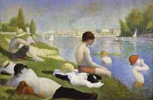 Georges Seurat - Bathers At Asnieres 1883-84