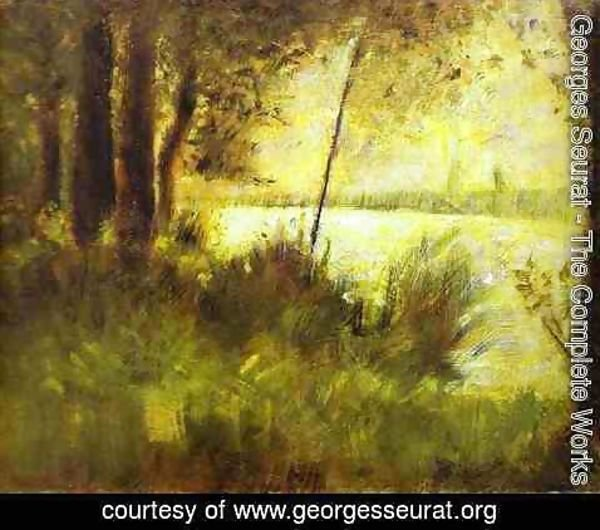 Georges Seurat - Grassy Hill 1881-82