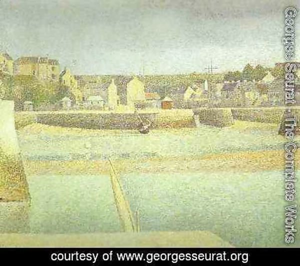 Georges Seurat - Port En Bese In Lavant Port Maree Basse 1888