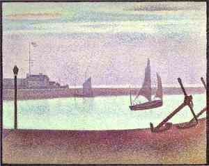 Georges Seurat - The Channel Of Gravelines Evening 1890