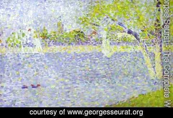 Georges Seurat - The Siene At La Grande Jatte 1888 2