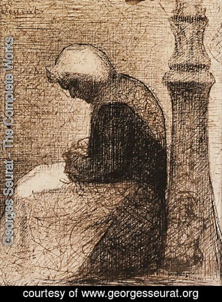 Georges Seurat - Assise prs d'un rverbre (Woman seated near a Streetlamp)