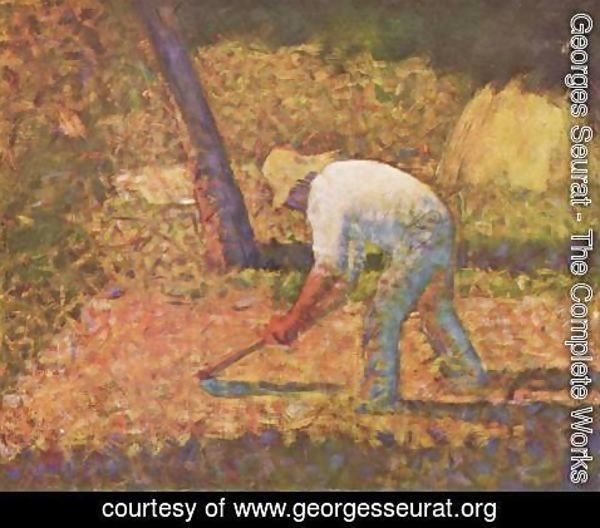 Georges Seurat - Farmer with hoe