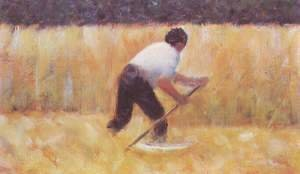 Georges Seurat - When mowing (Le Faucheur)