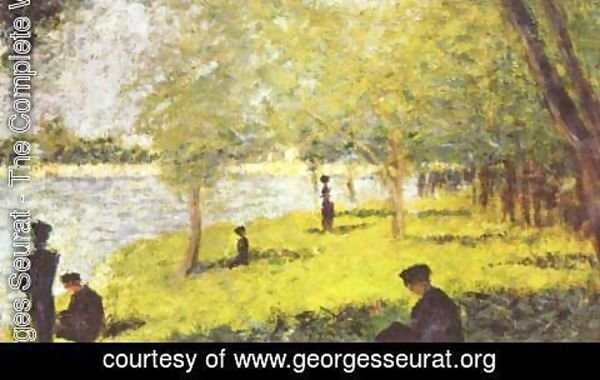Georges Seurat - Group Scene on the bank of the river