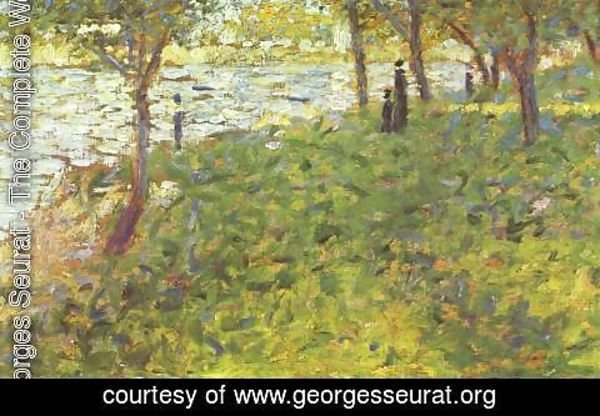 Georges Seurat - Landscape and characters by the river