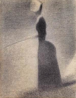 Georges Seurat - A Woman Fishing