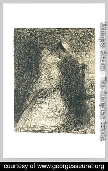 Georges Seurat - Nurse sitting holding her baby