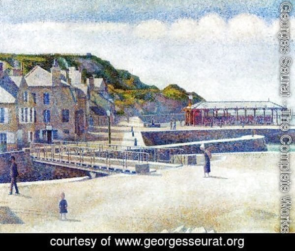 Georges Seurat - The Harbour and the Quays at Port-en-Bessin