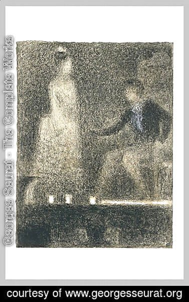 Georges Seurat - The scene in the theater
