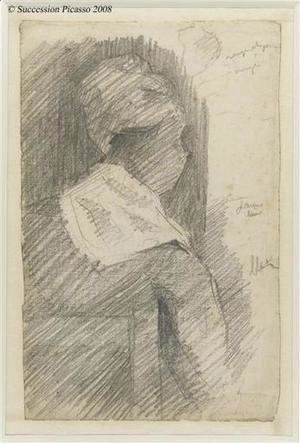 Georges Seurat - Female from back (black woman)