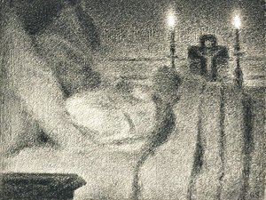 Georges Seurat - Anais Faivre Haumonte on her deathbed
