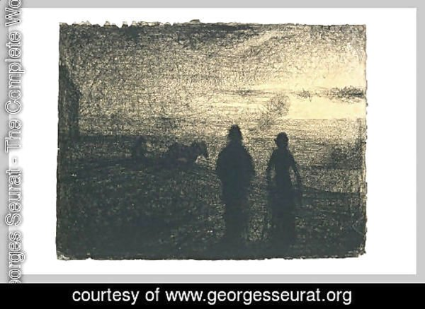 Georges Seurat - Ploughing