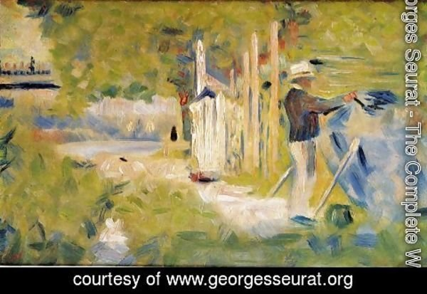 Georges Seurat - Man Painting his Boat