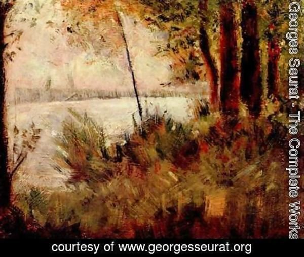 Georges Seurat - Grassy Riverbank