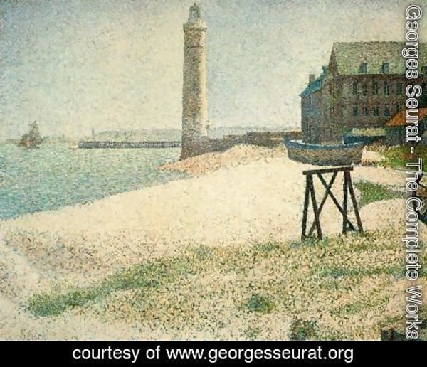Georges Seurat - Hospice and Lighthouse, Honfleur
