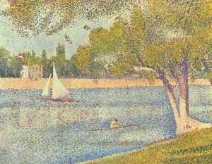 Georges Seurat - The river Seine at La Grande-Jatte