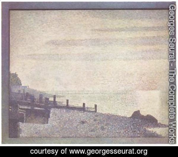 Georges Seurat - Mouth of the Seine at Honfleur, evening