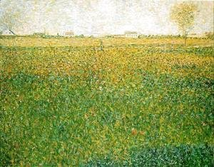Georges Seurat - Alfalfa Fields  Saint Denis